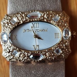 Betsey Johnson Accessories - Betsy Johnson Wide Victorian Gold Filgaree Watch